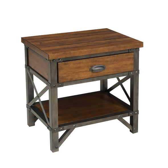 Holverson Brown Nightstand - Luna Furniture