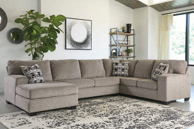 Ballinasloe Platinum LAF Sectional - Luna Furniture