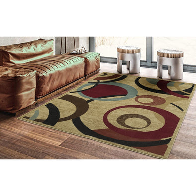 Royal Abstract Beige Area Rug - 5X7