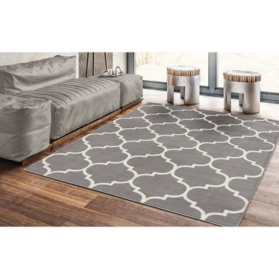 Royal Moroccan Trellis Grey Area Rug - 5X7