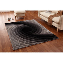 Load image into Gallery viewer, CSR4073 - Casa Regina Shaggy 3D Spiral Swirl Grey Area Rug - Bellaria Furniture HomeStore