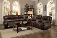 Mahala Brown Top Grain Leather Power Reclining Living Room Set - Luna Furniture
