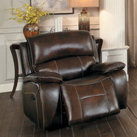 Mahala Brown Top Grain Leather Power Reclining Chair - Luna Furniture