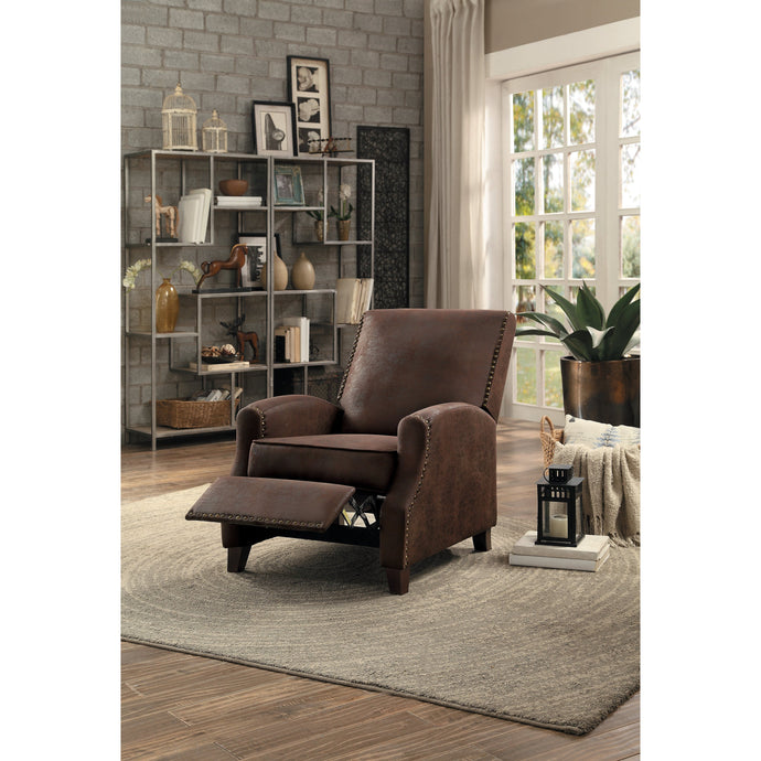 [MONTHLY SPECIAL] Walden Brown Push Back Reclining Chair | 8215 - Bellaria Furniture HomeStore