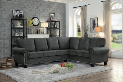 [SPECIAL] Cornelia Dark Gray Sectional