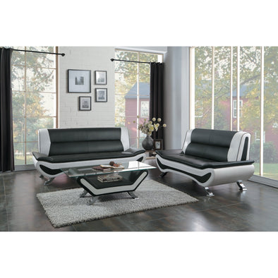 [SPECIAL] Veloce Black/White Living Room Set | 8219