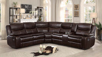 Bastrop Brown Reclining Sectional - Luna Furniture