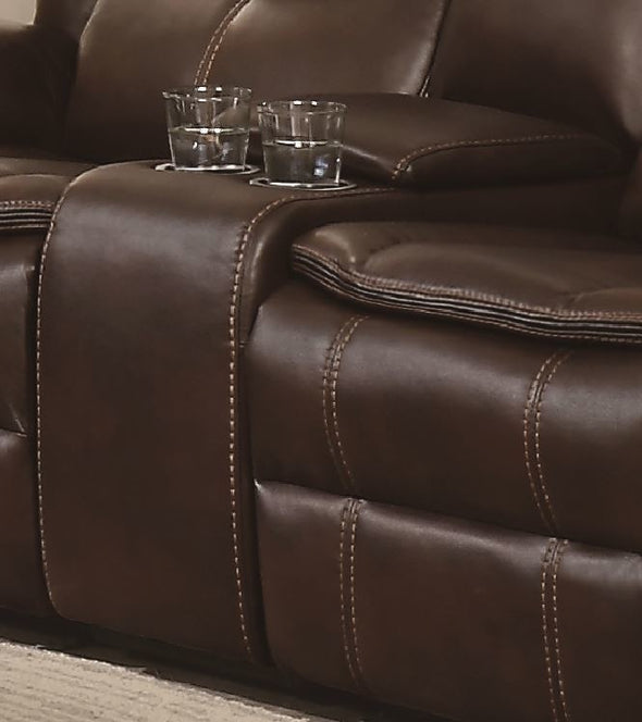 Bastrop Brown Reclining Loveseat - Luna Furniture