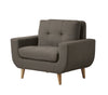 Deryn Gray Accent Chair - Luna Furniture