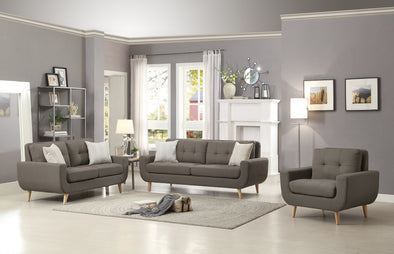 Deryn Gray Living Room Set | 8327