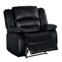 Jarita Black Reclining Chair - Luna Furniture