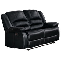 Jarita Black Reclining Loveseat - Luna Furniture