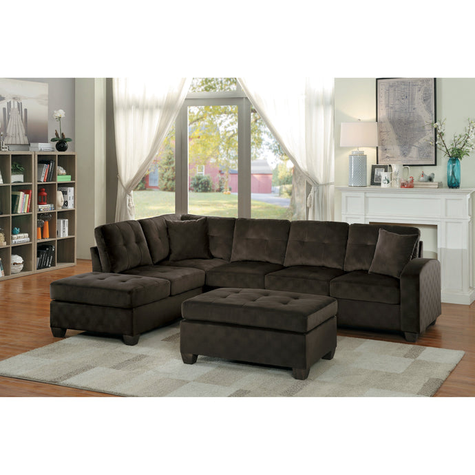 [MONTHLY SPECIAL] Emilio Chocolate Sectional | 8367 - Bellaria Furniture HomeStore