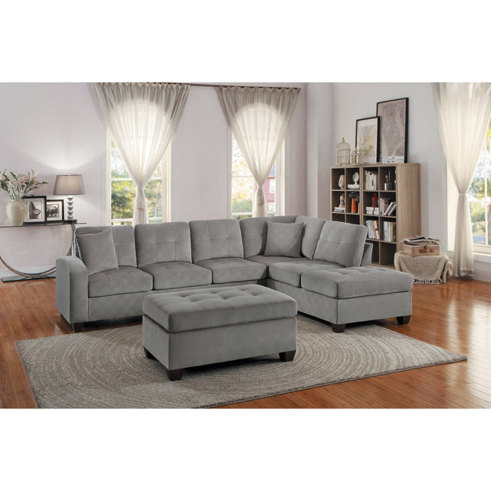 [MONTHLY SPECIAL] Emilio Taupe Sectional | 8367 - Bellaria Furniture HomeStore