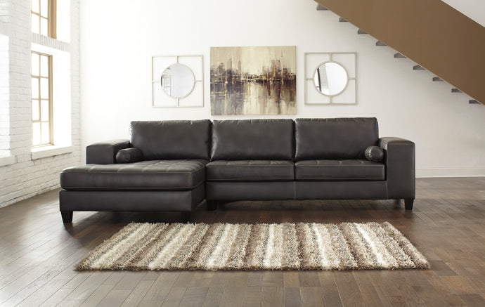Nokomis Charcoal LAF Sectional with Chaise