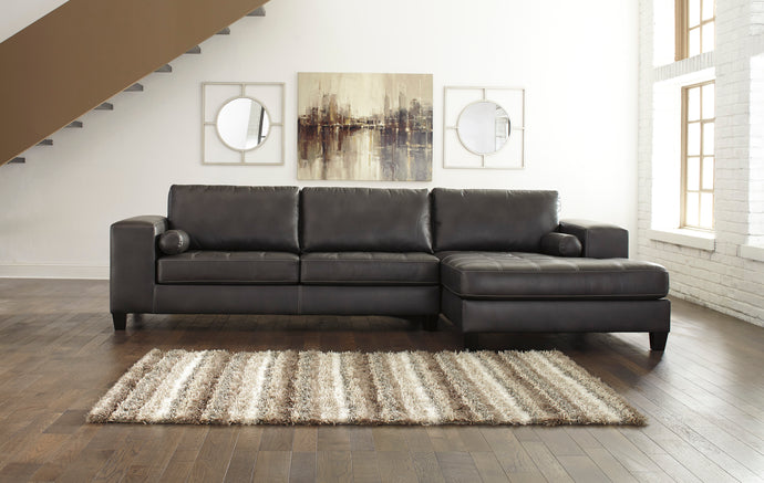 Nokomis Charcoal RAF Sectional with Chaise