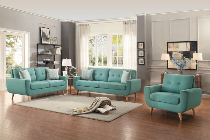 Deryn Teal Living Room Set | 8327 - Bellaria Furniture HomeStore