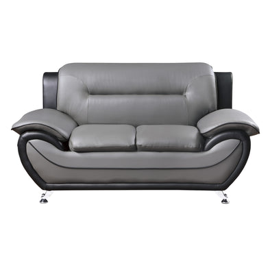 Matteo Gray/Black Loveseat - Luna Furniture