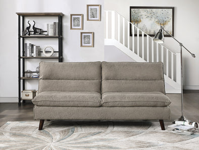 Mackay Brown Elegant Lounger Futon - Luna Furniture