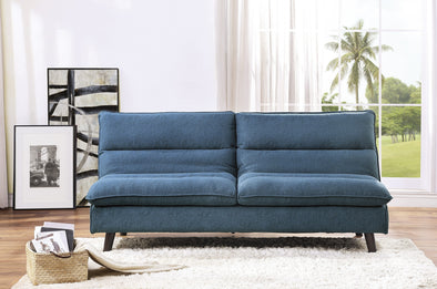 Mackay Blue Elegant Lounger Futon - Luna Furniture