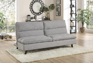 Mackay Gray Elegant Lounger Futon - Luna Furniture