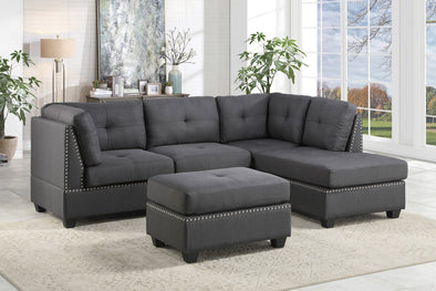 [SPECIAL] Dasha Dark Gray Sectional
