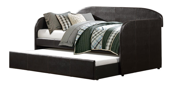 Roland Dark Brown Daybed with Trundle - Luna Furniture