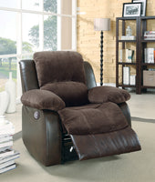 Granley Chocolate Reclining Chair - Luna Furniture