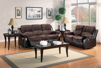 Granley Chocolate Double Reclining Sofa - Luna Furniture