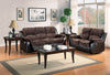 Granley Chocolate Reclining Loveseat - Luna Furniture