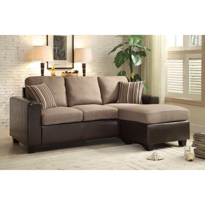 [MONTHLY SPECIAL] Slater Grayish Brown Reversible Sofa Chaise | 8401 - Bellaria Furniture HomeStore