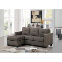 Phelps Brownish Gray Reversible Sofa Chaise - Luna Furniture