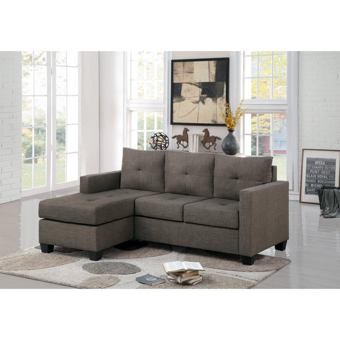 [MONTHLY SPECIAL] Phelps Brownish Gray Reversible Sofa Chaise | 9789 - Bellaria Furniture HomeStore