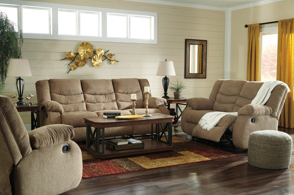 Tulen Mocha Reclining Living Room Set - Luna Furniture