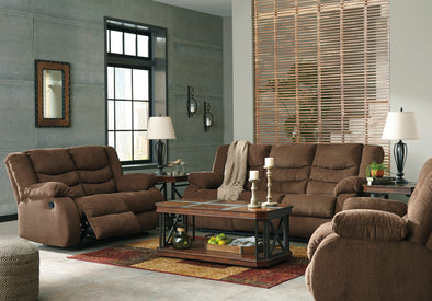 [SPECIAL] Tulen Chocolate Reclining Living Room Set - Luna Furniture