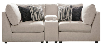 Kellway Bisque 3-Piece Console Loveseat - Luna Furniture