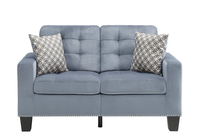 Lantana Gray Classic Loveseat with Pillows | 9957 - Bellaria Furniture HomeStore