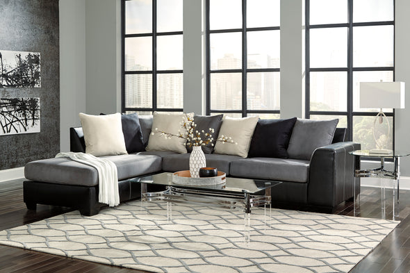 Jacurso Charcoal LAF Sectional - Luna Furniture