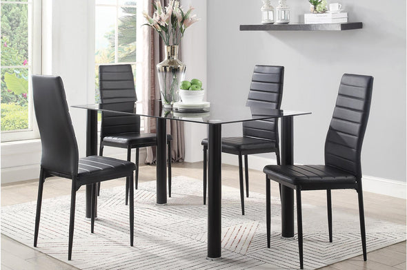 [SPECIAL] Florian Black Dining Set - Luna Furniture