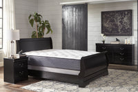 Huey Vineyard Black Full Sleigh Bed - Luna Furniture