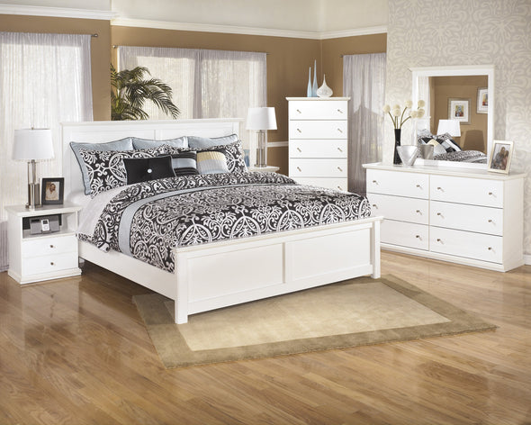 Bostwick Shoals White King Panel Bed - Luna Furniture