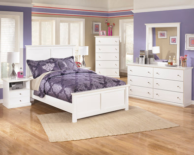 Bostwick Shoals White Youth Panel Bedroom Set | B139