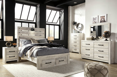 Cambeck Whitewash Youth Footboard Storage Bedroom Set | B192