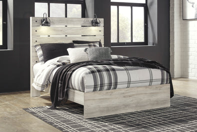 Cambeck Whitewash Queen Panel Bed - Luna Furniture