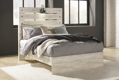 Cambeck Whitewash Full Panel Bed - Luna Furniture