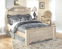 Catalina Antique White Queen Poster Bed - Luna Furniture