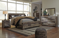 Derekson Gray Panel Bedroom Set | B200 - Luna Furniture