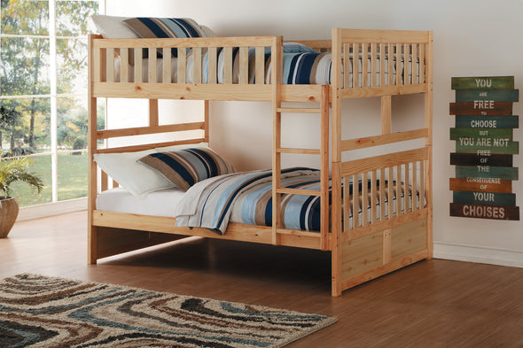 Bartly Pine Full/Full Bunk Bed | B2043 - Luna Furniture