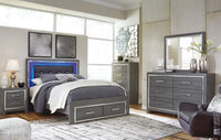 Lodanna Gray LED Storage Bedroom Set - Luna Furniture