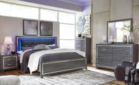 Lodanna Gray LED Panel Bedroom Set - Luna Furniture